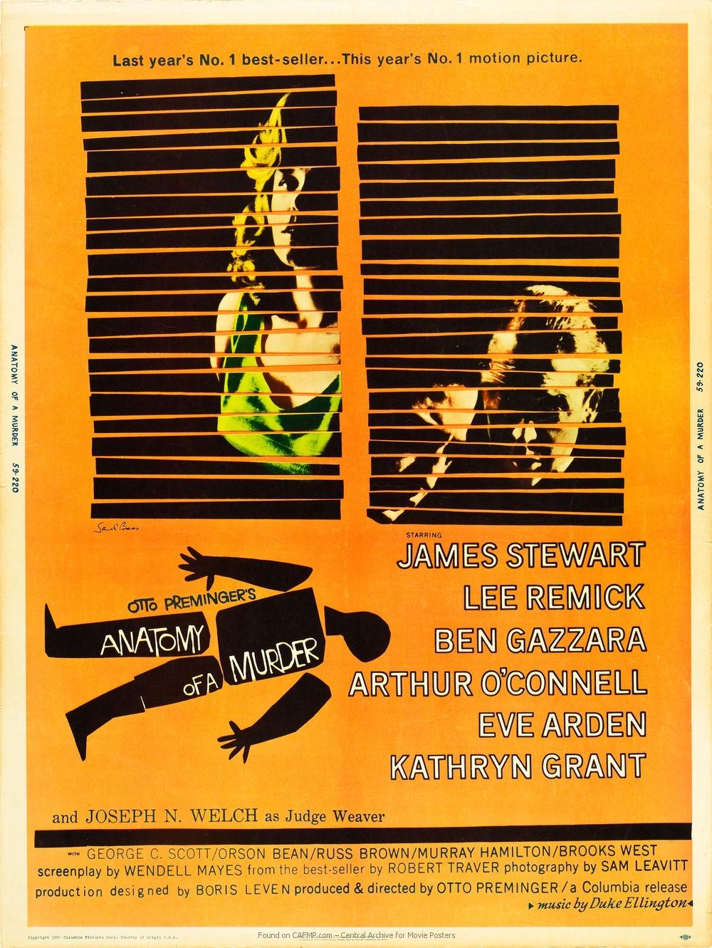 Filmplakat Anatomy Of A Murder Auf Cafmp