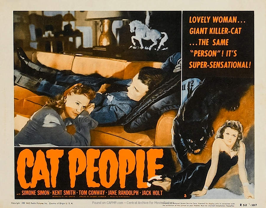 CAT PEOPLE Movie Poster 1942 Horror Mystery Classic