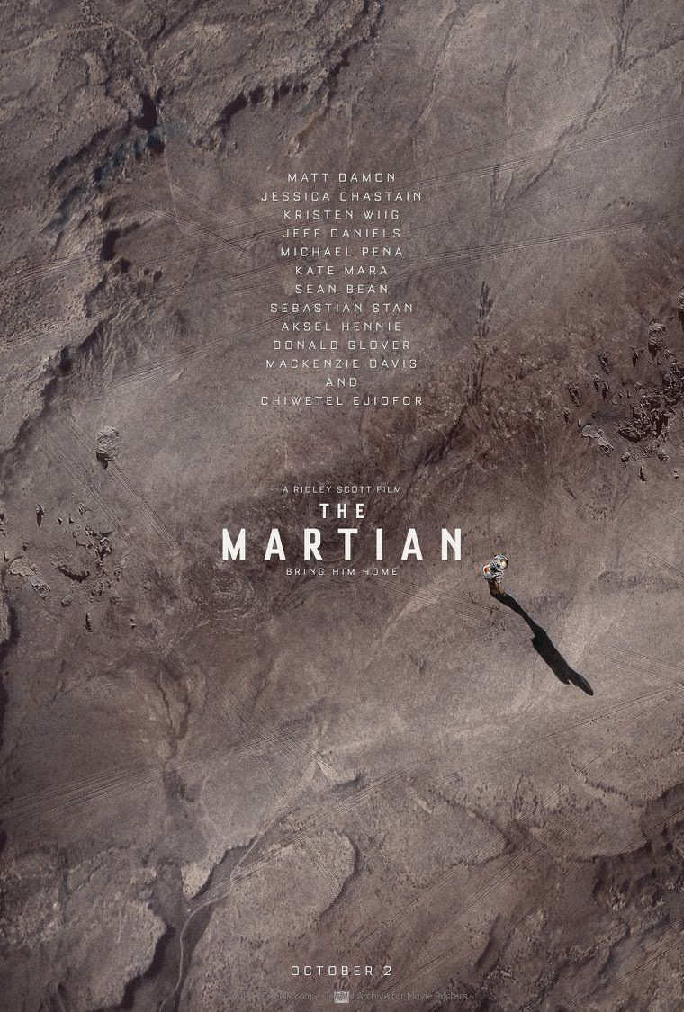 Movie Poster The Martian On Cafmp