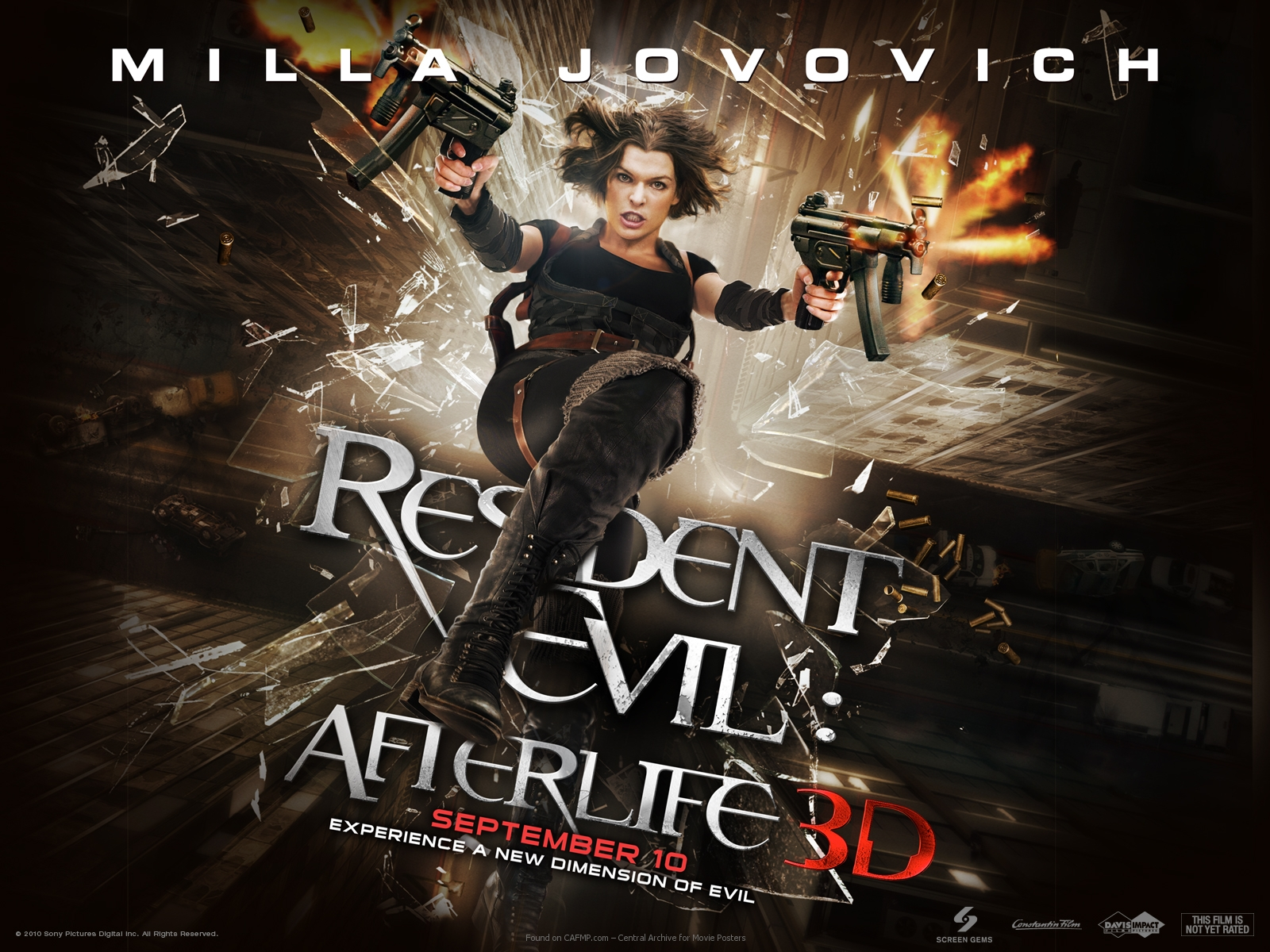 Movie Poster Resident Evil Afterlife Banner On Cafmp